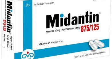 Công dụng và liều dùng của thuốc Midantin